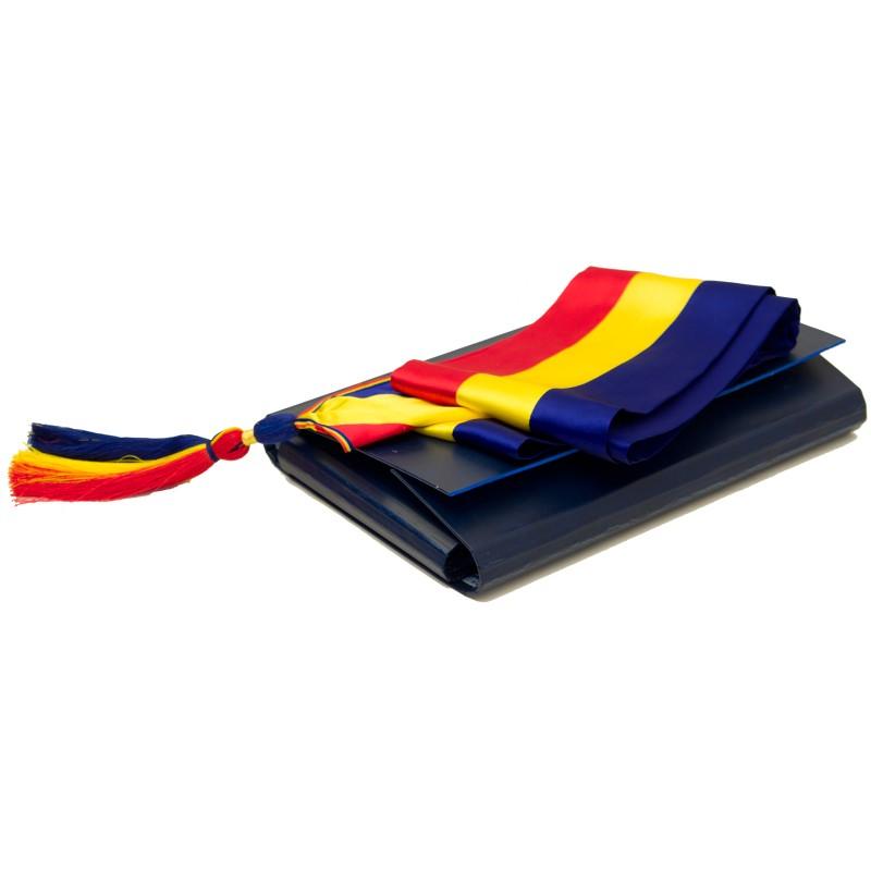ESARFA tricolor pt PRIMAR + Caseta speciala ptr  pastrare - Fabrica de  drapele